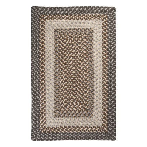 Colonial Mills Tiburon Misted Grey Braided Area Rug