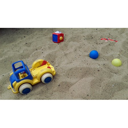Children Fun Ball Sand Toys Toy Car Toy Sandpit Poster Print 24 x 36