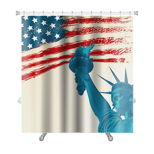 Gear New Patriotic Grunge American Flag with the Statue o...