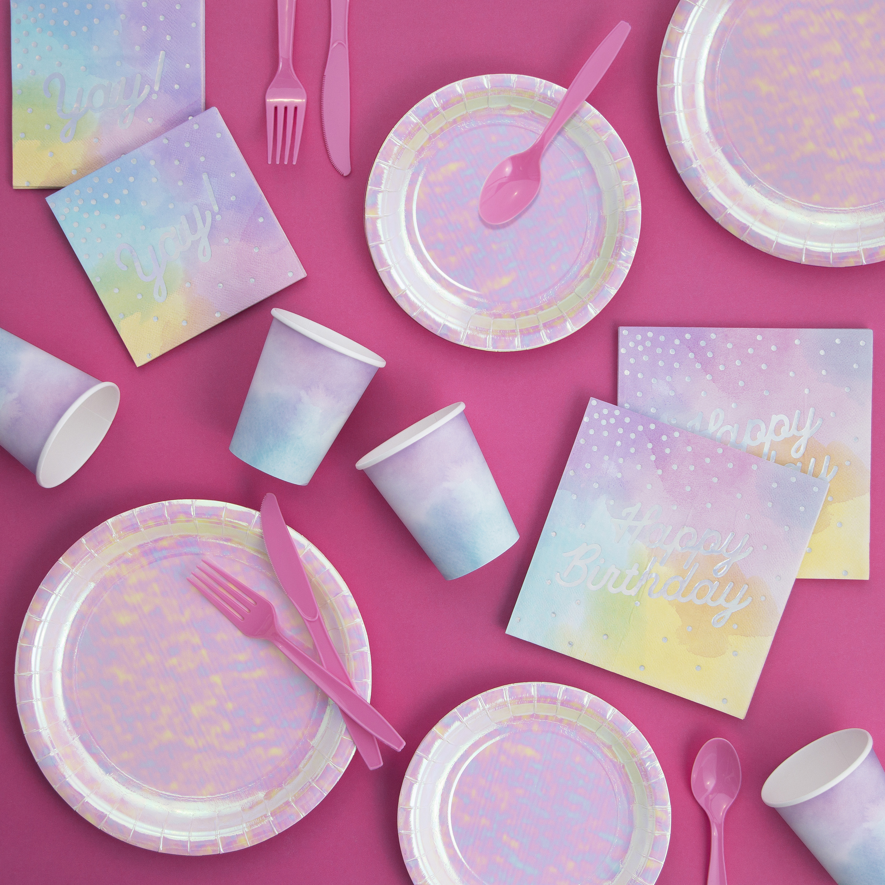 Iridescent Party Birthday Party Supplies Kit