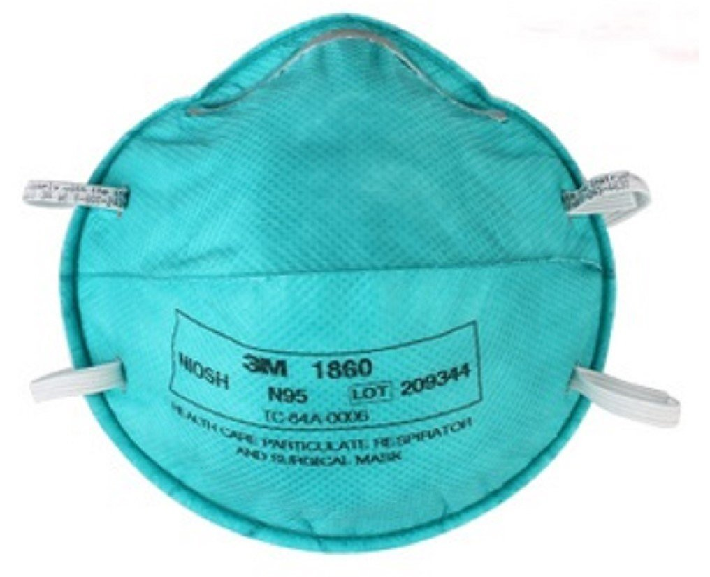 3M N95 Particulate Respirator   Surgical Mask Cone Headband One Size Fits Most (#1860, Sold Per Piece) by 3M
