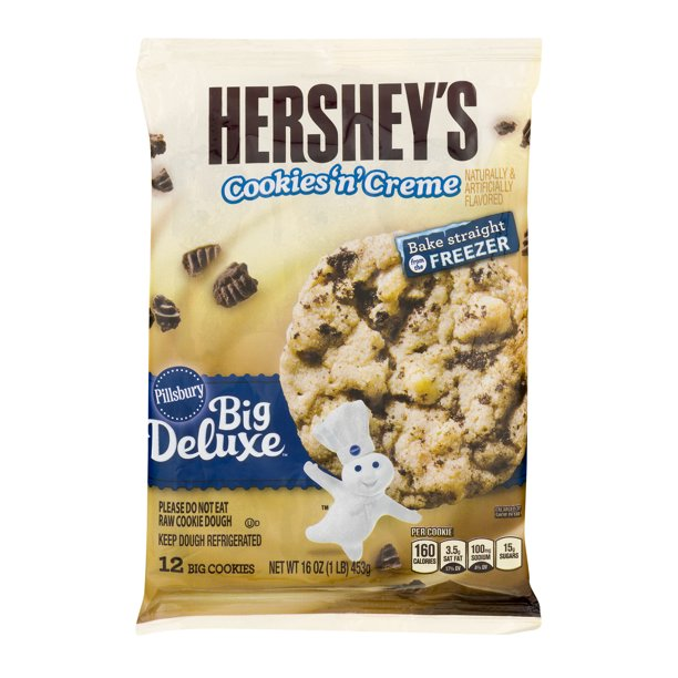 Pillsbury Hershey S Cookies N Creme Ready To Bake Cookie Dough 12 Ct Walmart Com Walmart Com