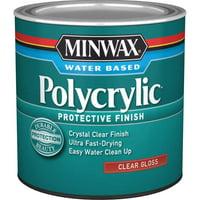 Minwax Polycrylic Protective Finish Clear Gloss Half Pint