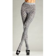 Adult Grey Leopard Tights Be Wicked BW680, One Size