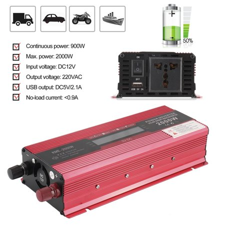 2000W Dc 12V To Ac 220V Car Power Inverter Modified Sine