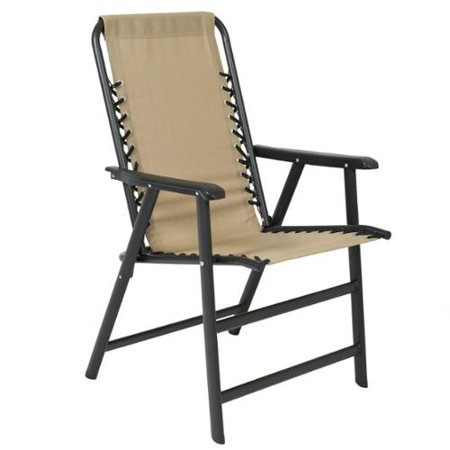Best Choice Products Patio Lounge Suspension Folding Chair Outdoor Sport Beig