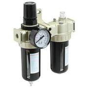 PointZero Combo Regulator Water Filter and Inline Air Line Oil Lubricator