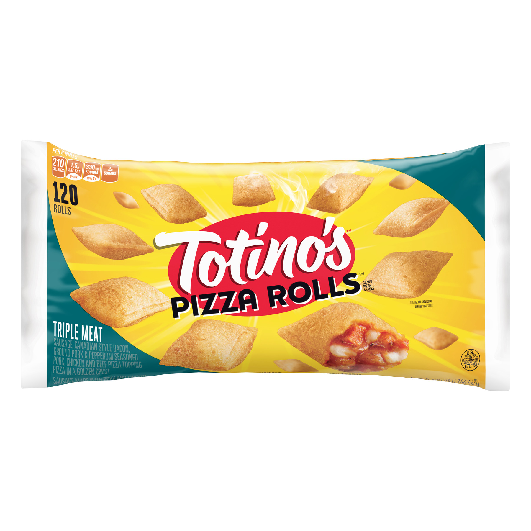Totino's Pizza Rolls Brand Triple Meat Pizza Snacks, 59.3 oz