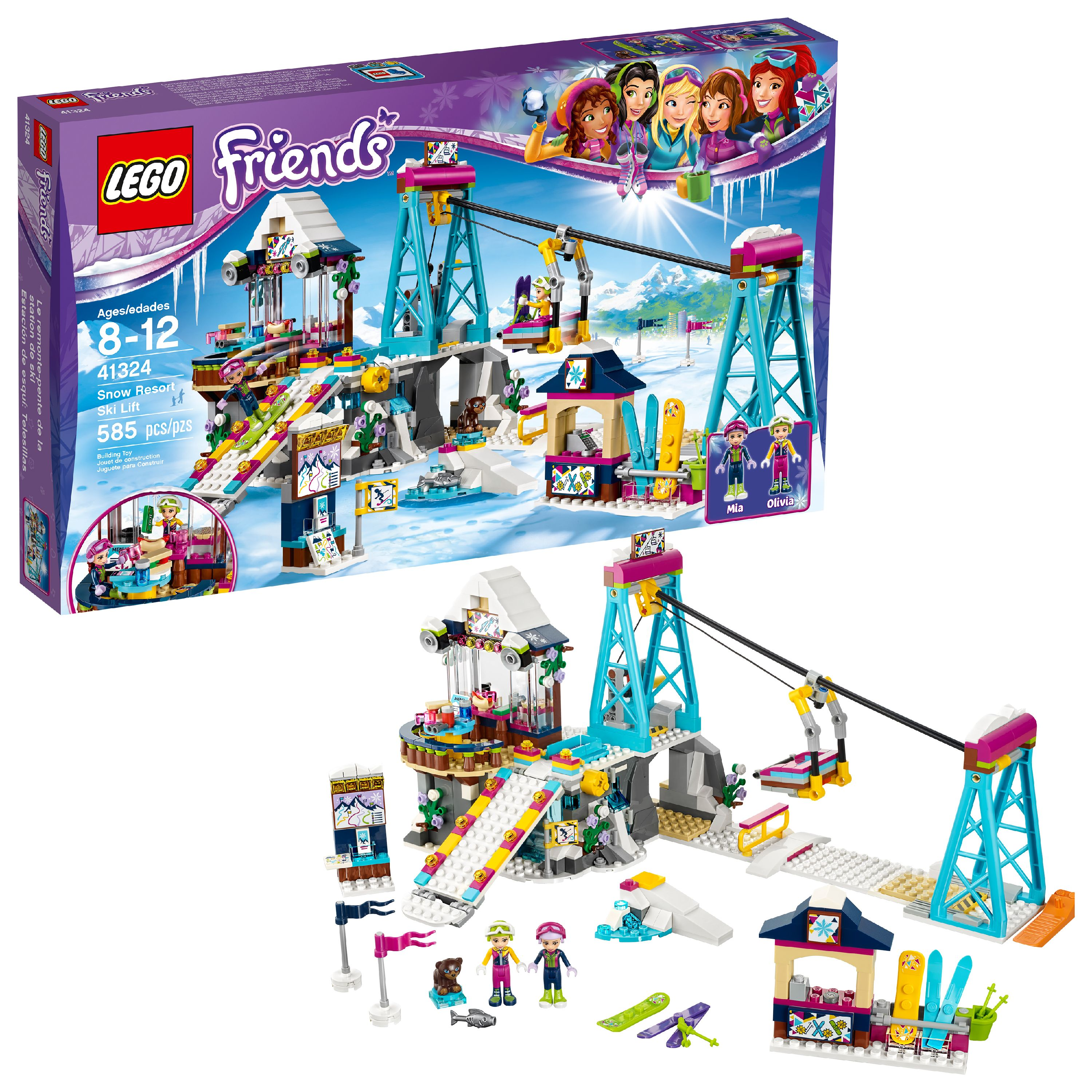LEGO Friends Snow Resort Ski Lift 41324 (585 Pieces)