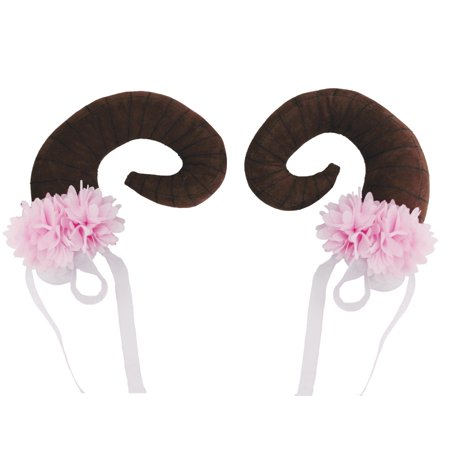 Adult Womens Floral Clustered Nymph Horn Pair Halloween Costume (Men's Pair Costumes)