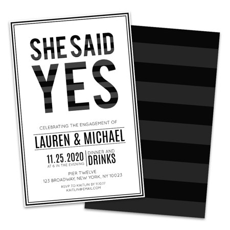 Personalized She Said Yes Engagement Party Invitations](Halloween Engagement Party Invitations)