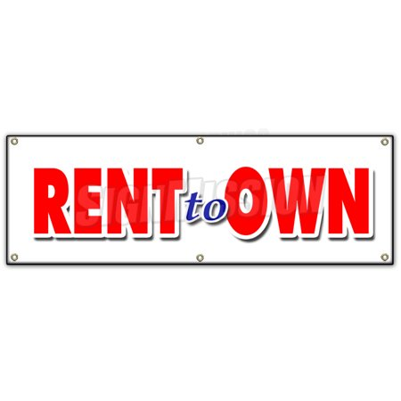 72  Rent To Own Banner Sign Tv Flat Screen Furniture Appliances Computers