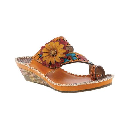 Women's L'Artiste by Spring Step Vardi Toe Loop Sandal](Tween Camel Toes)