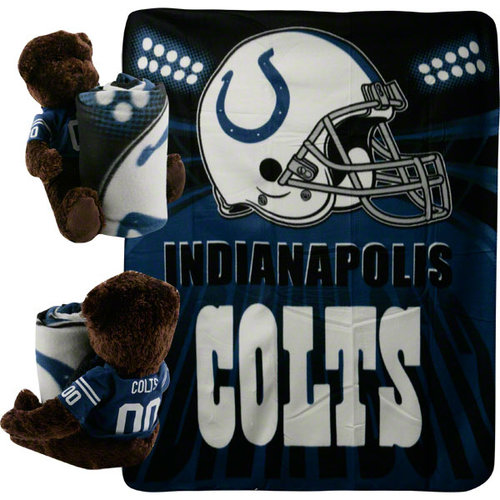 NFL - Indianapolis Colts Bear and Blanket Set
