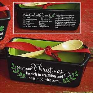 Loaf Pan-Mini-Rich Christmas/Snickerdoodle Bread w/Spoon & Recipe ...