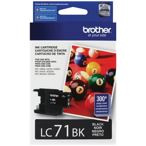 Brother Innobella Black Standard Yield Inkjet Cartridge (LC71BK)