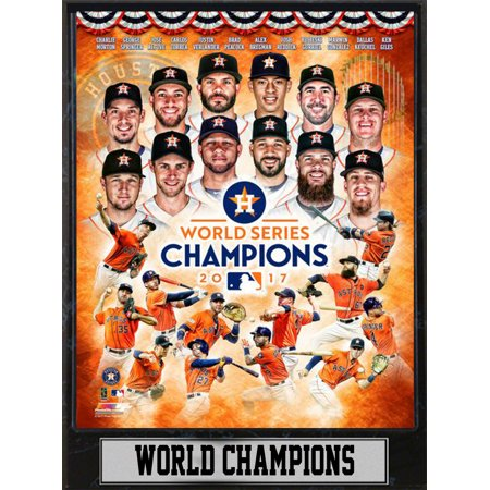 9x12 Plaque - 2017 World Series Champions Houston Astros