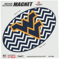 """West Virginia Mountaineers Chevron 6"""" x 6"""" Oval Full Color Magnet"""