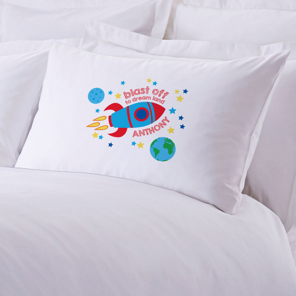 Blast Off To Dream Land Personalized Standard Pillowcase