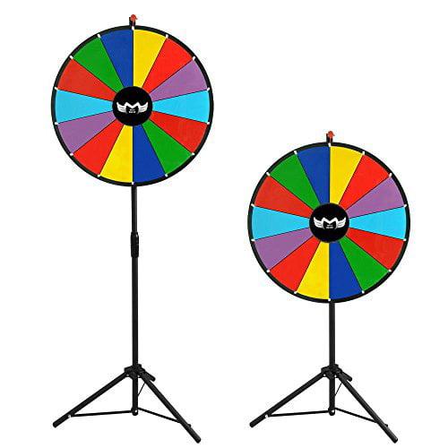 "MegaBrand 24"" Color Dry Erase Clicker Prize Wheel 14 Slot..."
