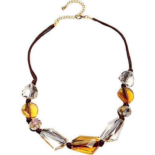 Alexa Starr Goldtone Glass Bead Necklace