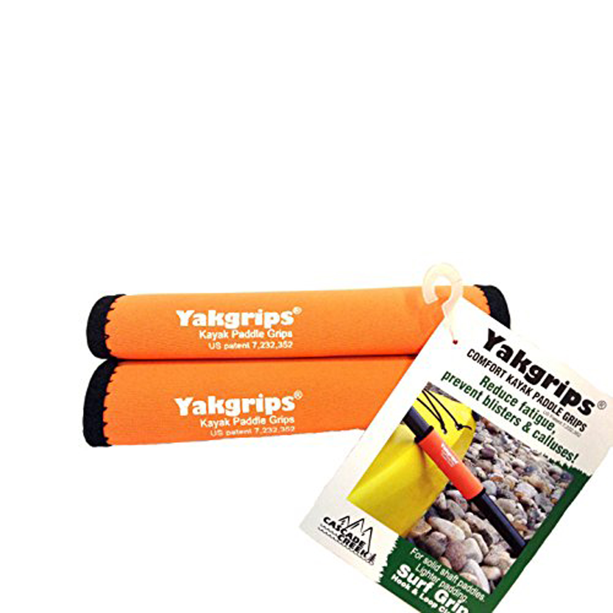 Yakgrips® Comfort Neoprene Kayak Paddle Grips Orange