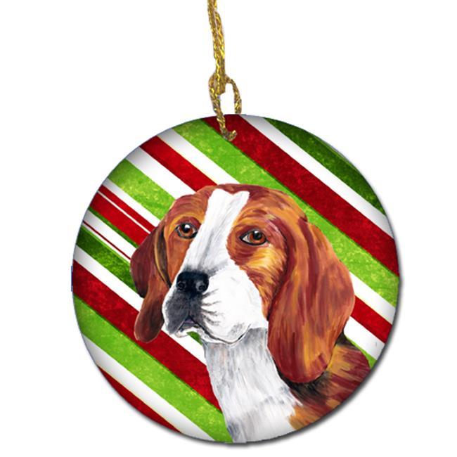 Carolines Treasures SC9329-CO1 Beagle Candy Cane Holiday Christmas Ceramic Ornament - image 1 of 1