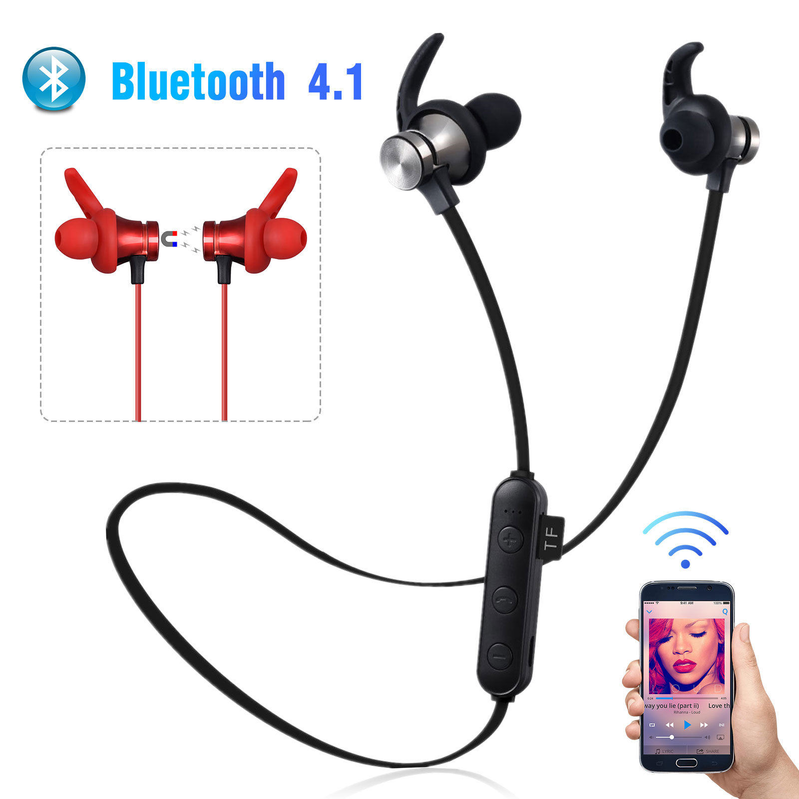 Stereo Earphone Earbuds Bass Headphone Sports Headset With Mic For Samsung Fast