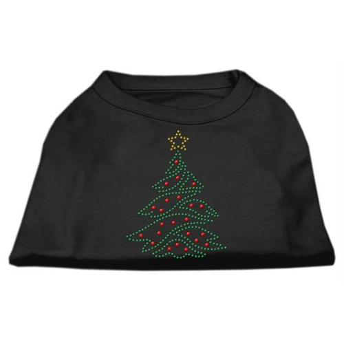 Christmas Tree Rhinestone Shirt Black XL (16)