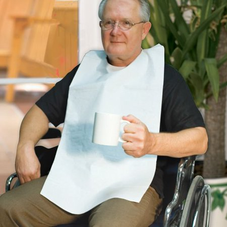 - Disposable Adult Tie-Back Poly Bibs (Set of 50)