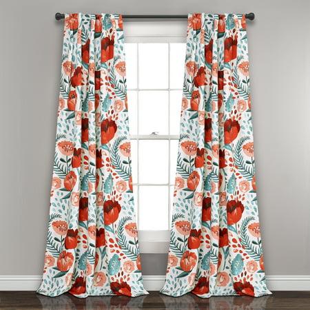 Poppy Garden Room Darkening Window Curtain Panels