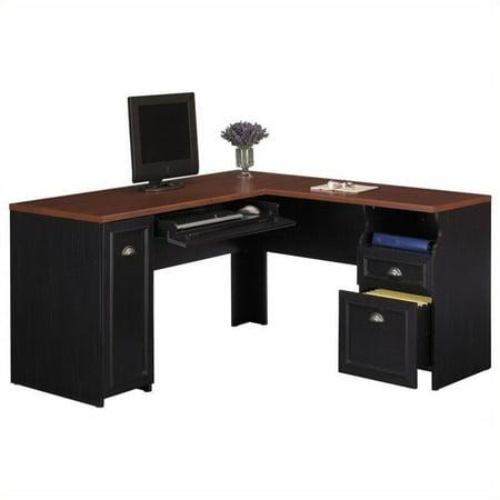 Pemberly Row L-Shaped Wood Computer Desk in Black - image 4 de 4