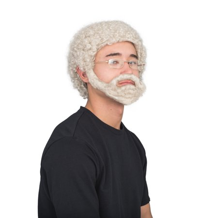 Uncle Drew Adult Hallloween Costume Accessory Wig Beard and Glasses Set