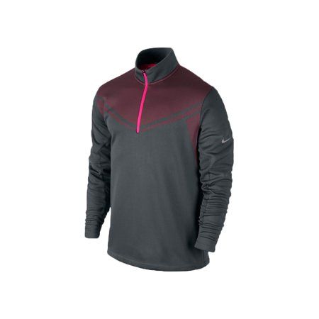 nike hypervis 1 2 zip cover up pullover shirt grey pink. Black Bedroom Furniture Sets. Home Design Ideas