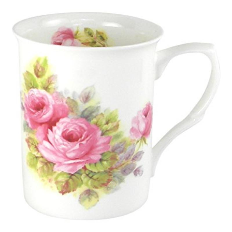 Adderley China Pink Roses Fine Bone China Coffee or Tea Mug by