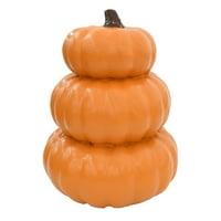 Way to Celebrate Halloween Orange Stacked Pumpkin Decoration (14 in)