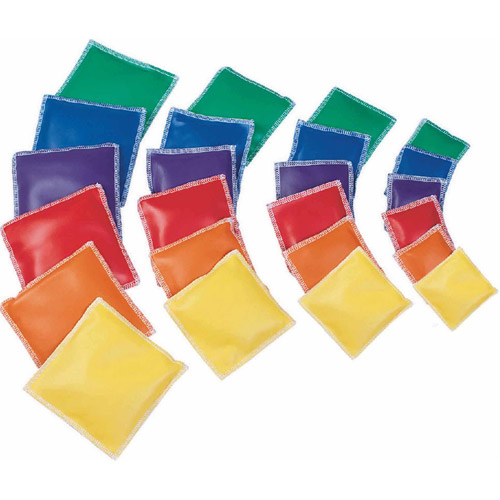 Spectrum Vinyl Square Beanbags, Set of 12, 3""