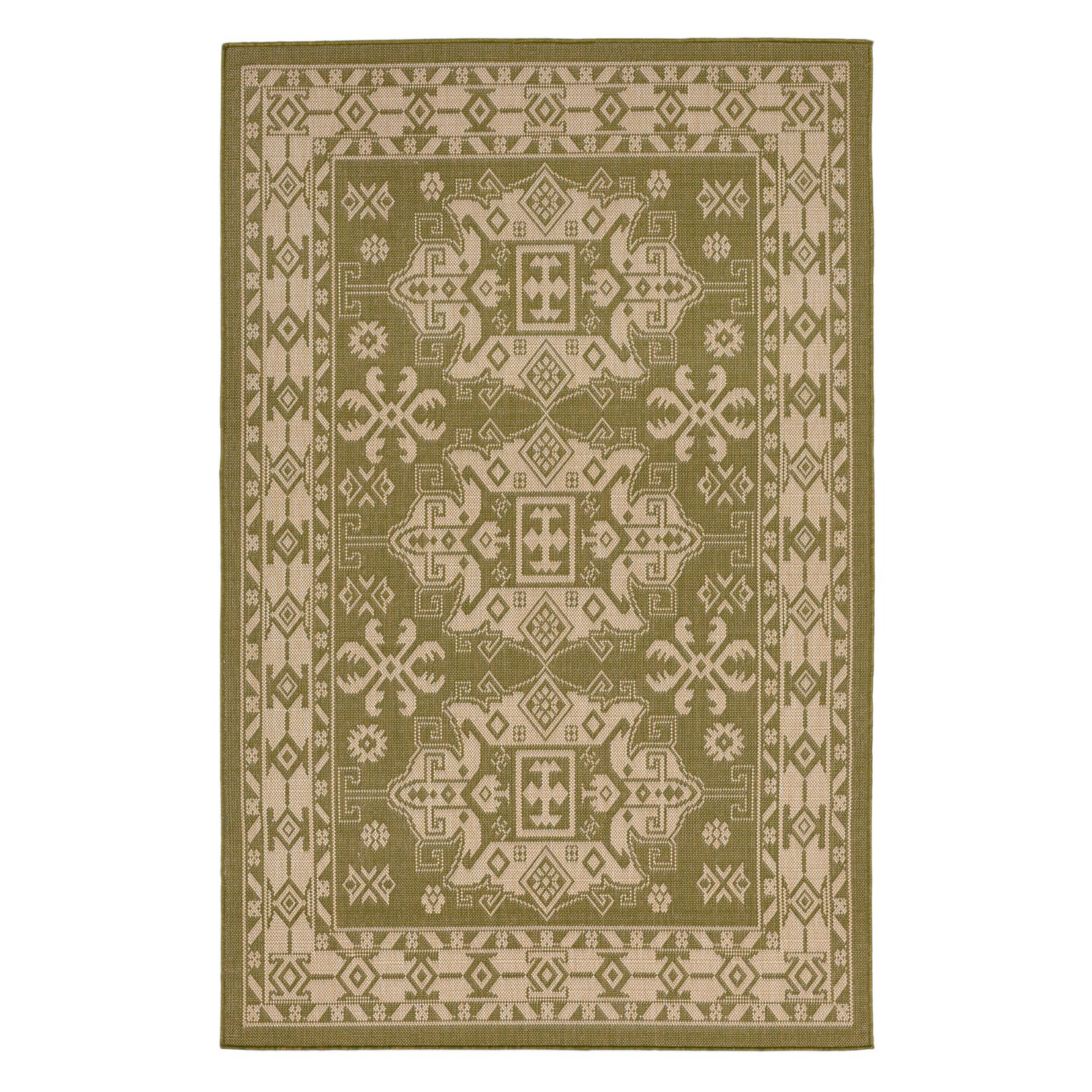 Liora Manne Terrace 1781/76 Kilim Green Area Rug 23 Inches X 35 Inches