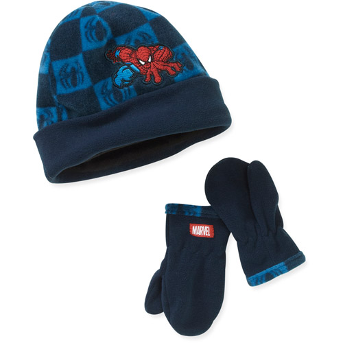 Marvel Baby Boys' 2-Piece Spiderman Hat and Mittens Set