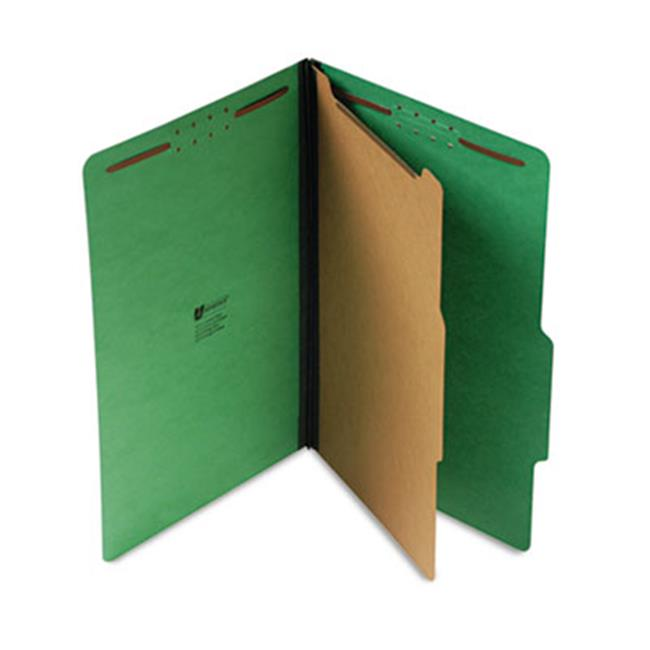 Pressboard Folder, Legal, Four-Section, Emerald Green, 10-Box