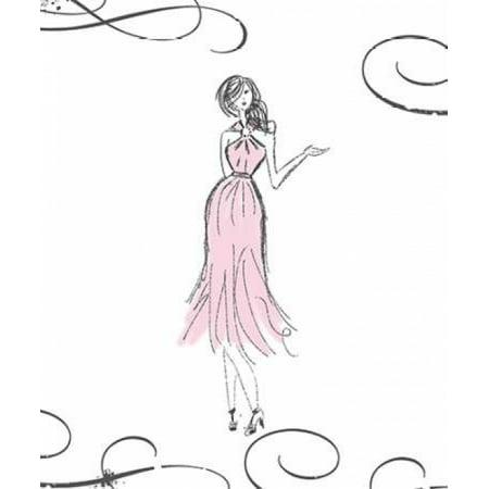 Coco Girl Stretched Canvas - Anna Quach (10 x