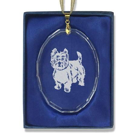 Oval Crystal Christmas Ornament - West Highland White Terrier - West Highland White Terrier Ornament