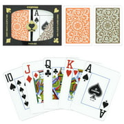 Copag 1546 Orange Brown Poker Sizes Jumbo Index