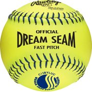 Rawlings USSSA 12 inch Dream Seam High Density Core Leather Softballs by Rawlings