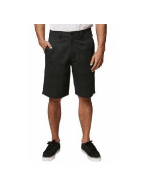 Hang Ten Mens Chino Casual Light Walking Shorts (Size 36, Black)
