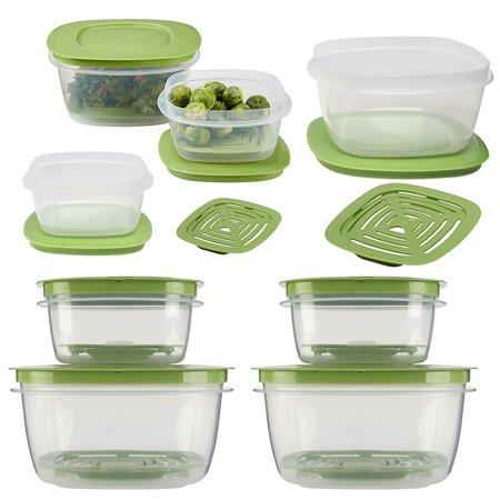 Rubbermaid16pc Set Of Produce Saver Plastic Food Storage Containers With - Plastic Containers With Lids