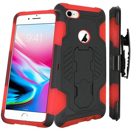online store ee9ad b9051 Apple iPhone 8 Case, by Insten Dual Layer [Shock Absorbing] Hybrid Stand  Hard Plastic/Soft TPU Rubber Case Cover Holster For Apple iPhone 8, ...