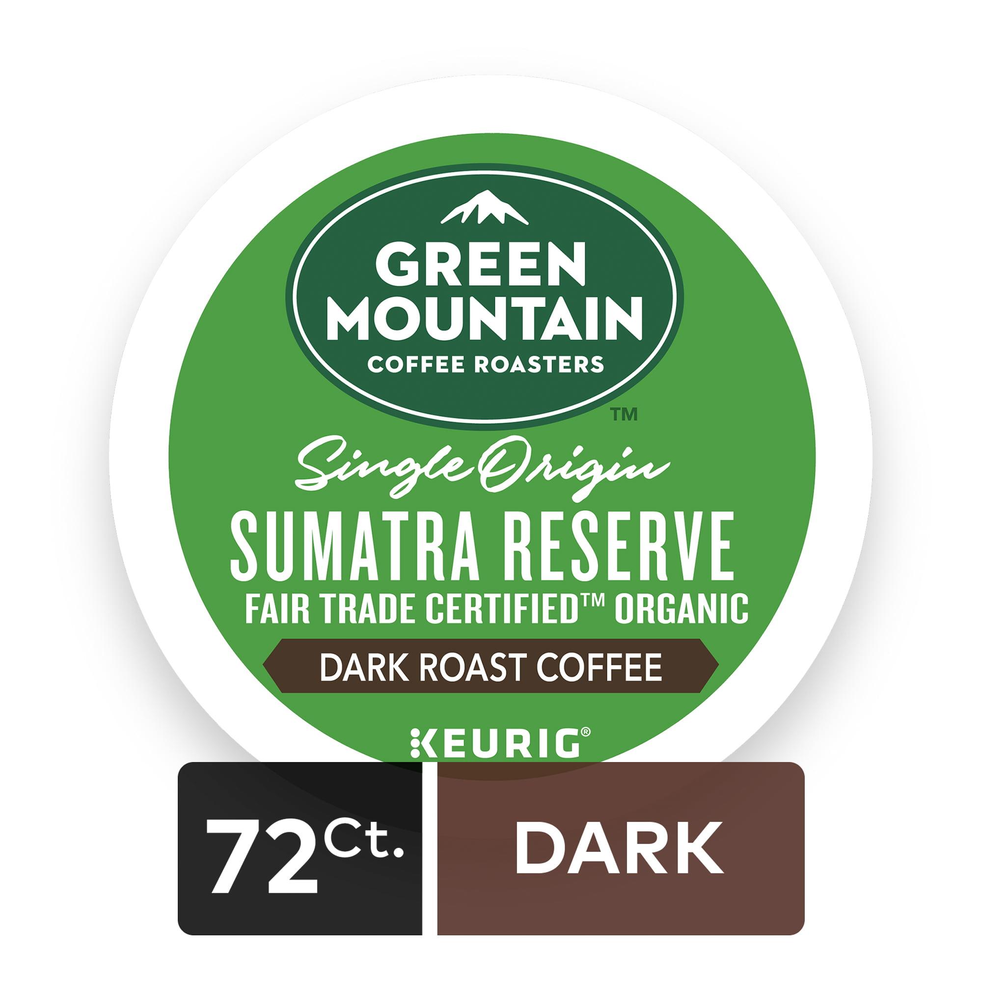 (4 Pack) Green Mountain Coffee Sumatran Reserve, Keurig K-Cup Pods, Dark Roast, 18 Count