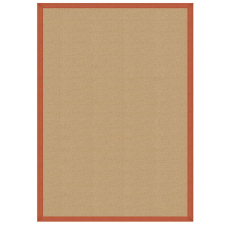 Athena Rug, Sisal, Burnt Orange ()