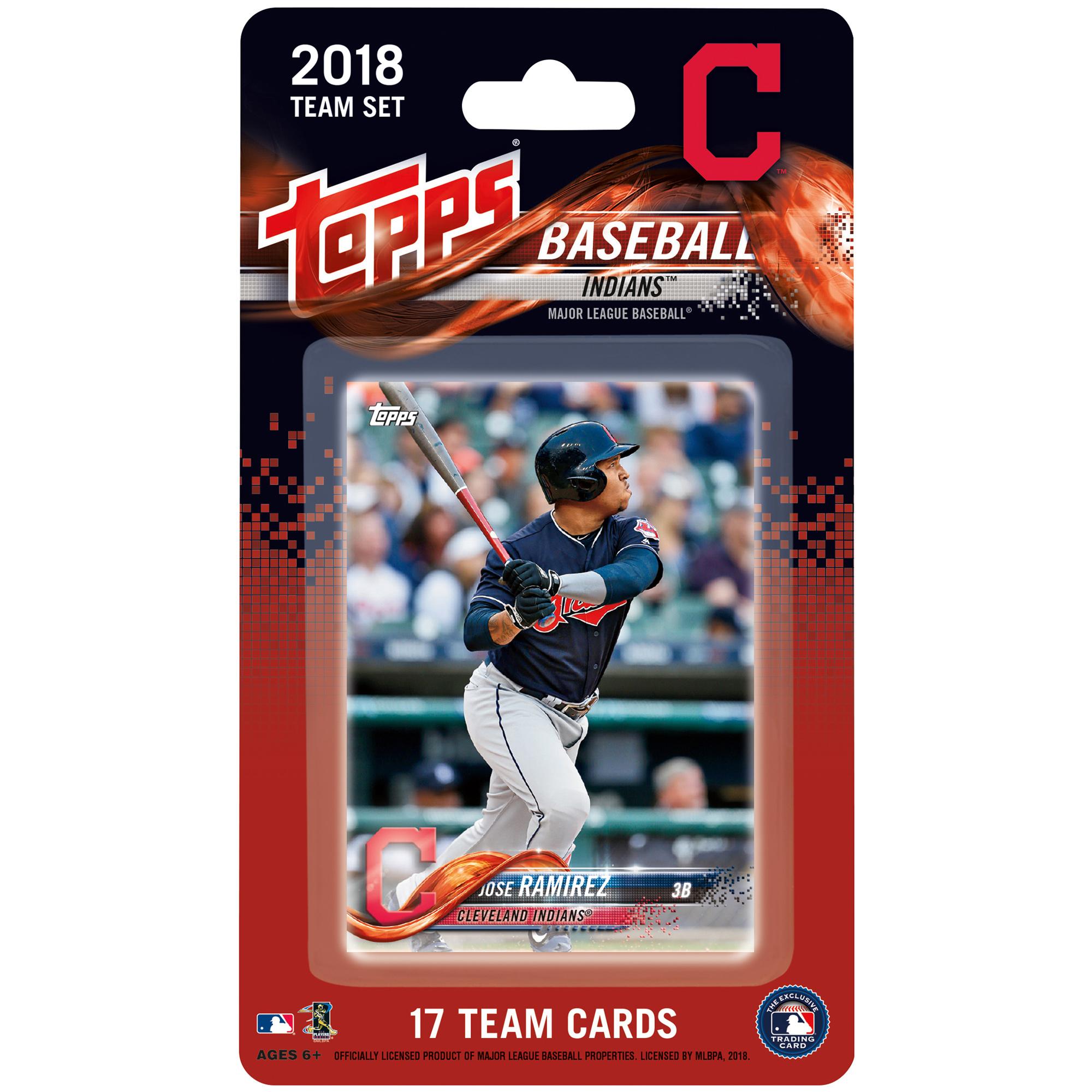 Cleveland Indians 2018 Team Set Trading Cards - No Size